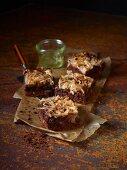Brownies mit Birnenspiralen