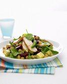 Chicken, Baby Spinach & Beetroot Salad
