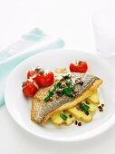 Pan-Fried Snapper with Tomato, Olives & Basil