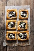 Goat's cheese and caramelised onion tartlets