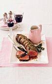 Quick roast beef with horseradish sauce