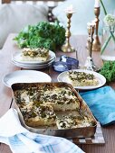 Focaccia with kale