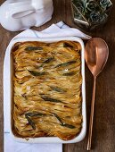 Crispy potato millefeuilles with sage