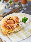 Egg bread for an Easter buffet
