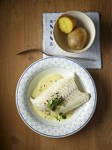 Haddock in a mustard sauce with new potatoes
