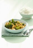 Vegetable curry with broccoli and white beans (Thailand)