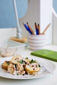 Potato Salad with Tuna & Capers for Lunch