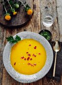 Pumpkin soup with red chilli