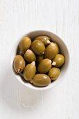 Griechische Oliven mit Mandelfüllung