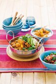 Chicken curry with butternut squash