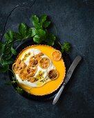 Zitronentarte mit Joghurt und Granadilla zu Ostern