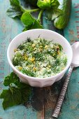 Cold soup with cucumber and dill
