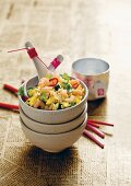 Fried rice with prawns and egg