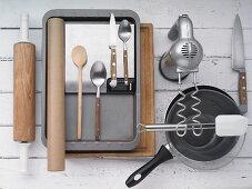 Kitchen utensils for making savoury cake
