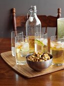 Lemon, Lime & Bitter Cocktails with Salted Nuts