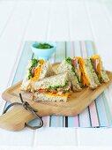 Coriander salsa sandwiches for Lunch