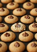 Cookies with espresso and hazelnut cream