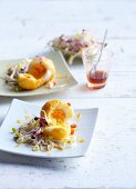 Baked eggs with bean sprouts