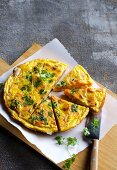 Carrot omelette with chervil
