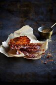 Pig Candy (oven-baked bacon with cane sugar)