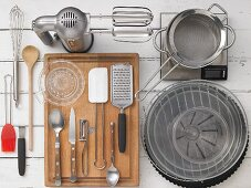 Various cooking and baking utensils