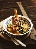 Bavarian lamb shank in rosemary jus
