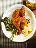 Half a Bavarian roast chicken