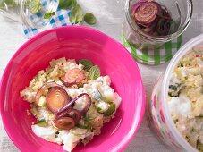 Fennel and bulgur salad with fresh mint