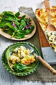 Cheese and Spinach Gnocchi Bake