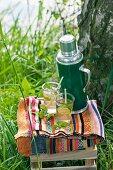 Lime iced tea for a picnic