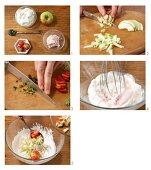 How to prepare quark ice cream with fruit and pistachio nuts