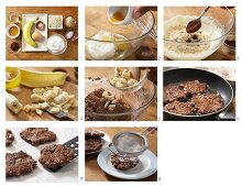 How to prepare chocolate & banana fritters