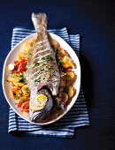 Spanish-style roasted fish
