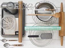 Kitchen utensils for making gingerbread