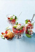 Balsamic strawberries with basil and mascarpone