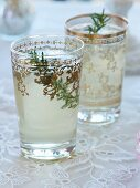 Rosemary drink with ginger ale
