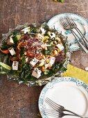 Algae salad with tofu and a peanut dressing (Asia)