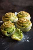 Wild garlic pastries for Easter