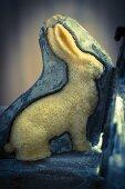 A sponge cake Easter bunny
