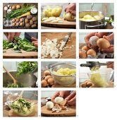 How to prepare dandelion & potato purée with eggs