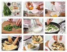 How to prepare savoury shredded wild garlic pancakes