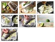 How to prepare a trout fillet parcel to be barbecued