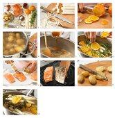 How to prepare orange & tarragon with salmon and baby potatoes
