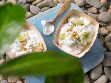 Sheep's cheese dip with quark and walnuts
