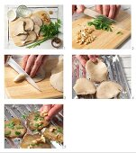 How to prepare grilled oyster mushrooms with walnuts