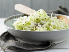 White cabbage salad with caraway