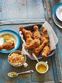 American buttermilk fried chicken
