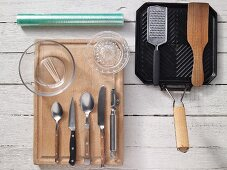 Kitchen utensils for making sandwiches