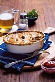 Beef & beer pie