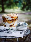 Quince pecan and creme caramel trifle with honey